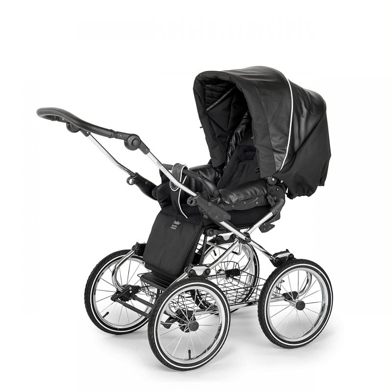 Nordic Crown stroller elegant in leather simulation sitting unit