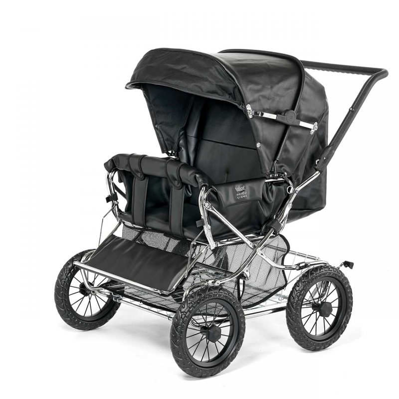 Nordic Crown stroller duette in leather simulation