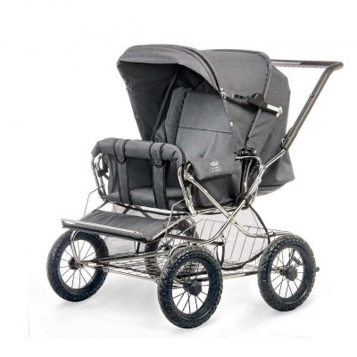Nordic Crown stroller duette in dark grey melange