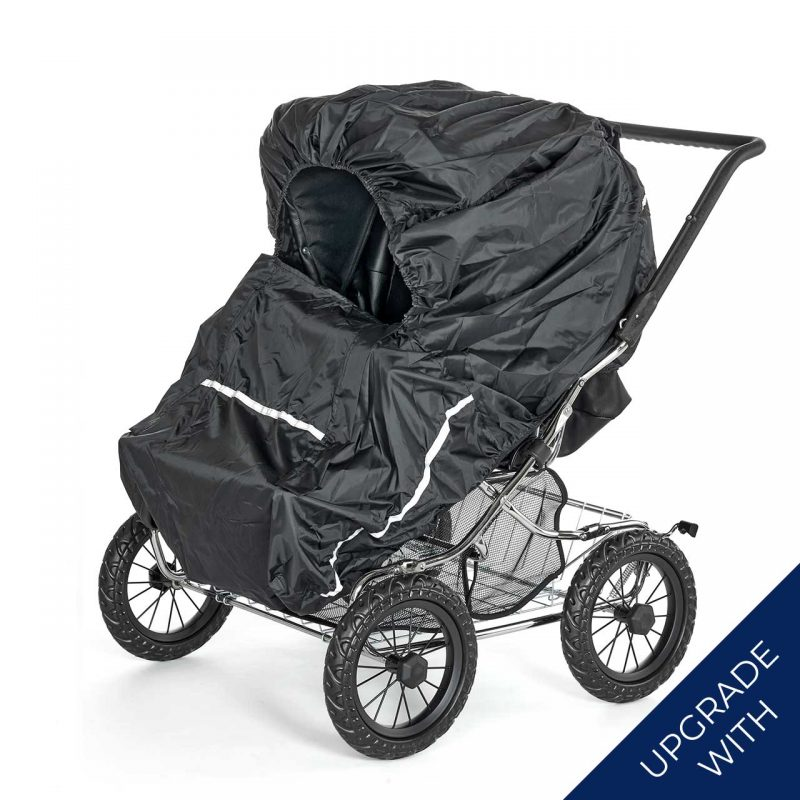 Nordic Crown stroller duette with additional rain cover