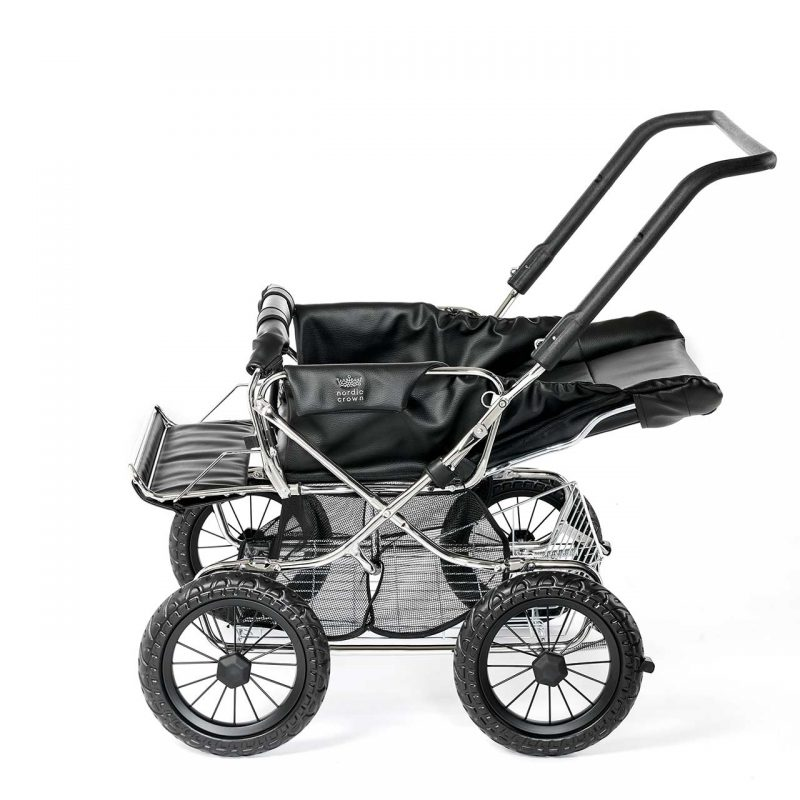 Nordic Crown stroller duette reclined