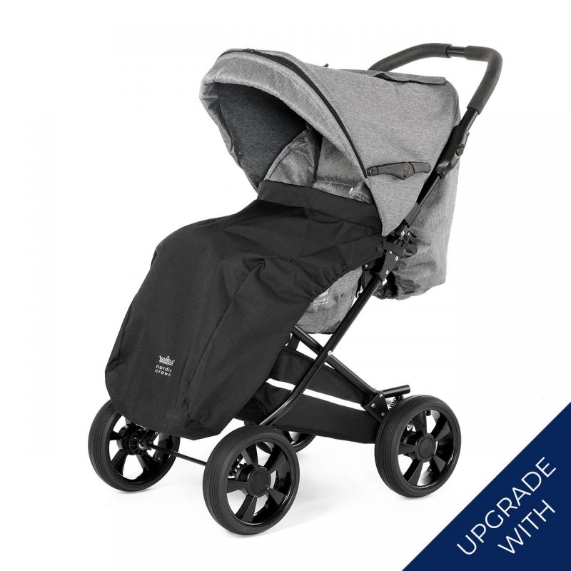 Nordic Crown race stroller with additional footmuff