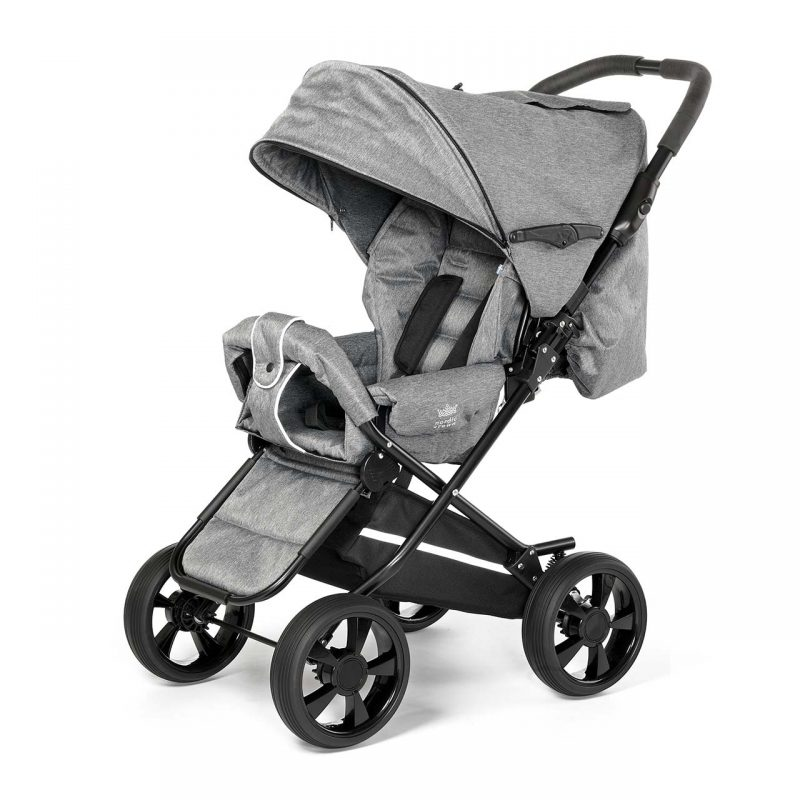 Nordic Crown stroller race in grey melange