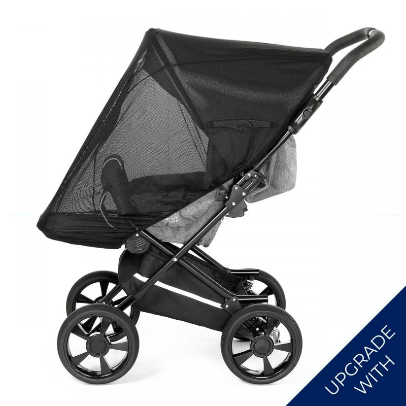 Nordic Crown race stroller with additional mosquito net