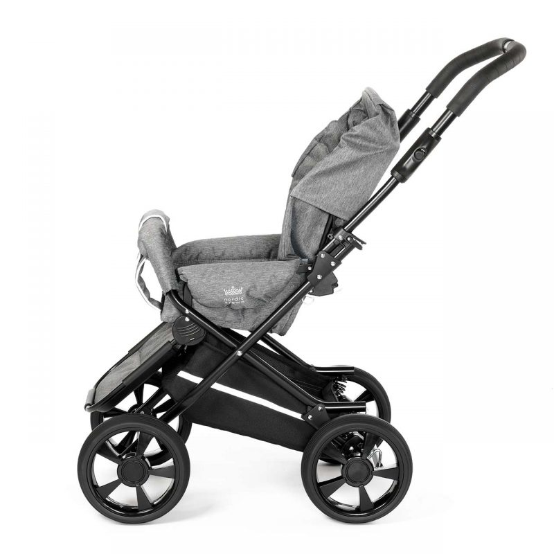 Nordic crown race stroller with hood removed