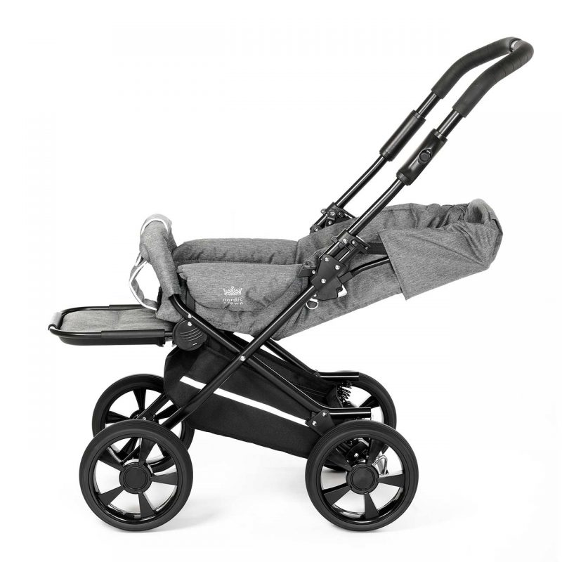 Nordic Crown stroller race reclined position