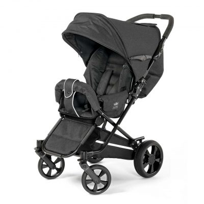 Nordic Crown stroller spin in black