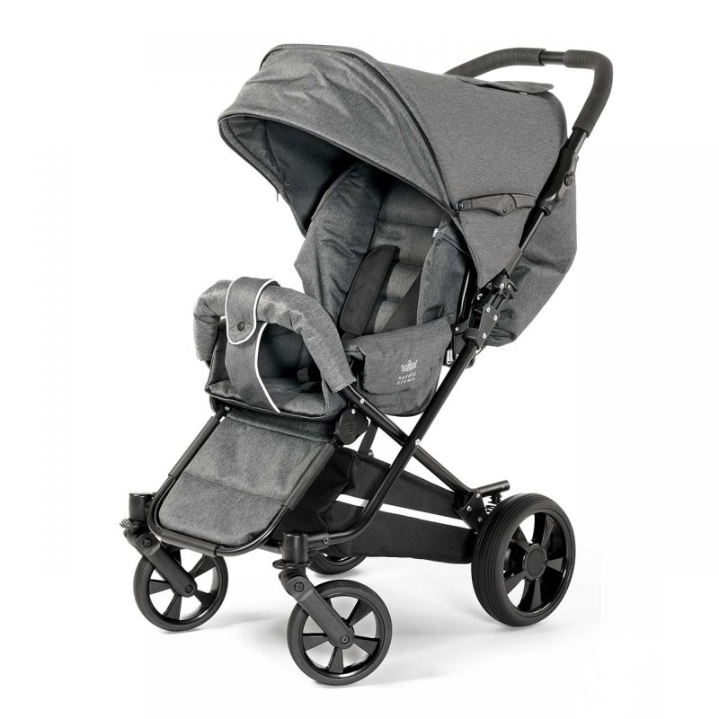 Nordic Crown stroller spin in dark grey melange