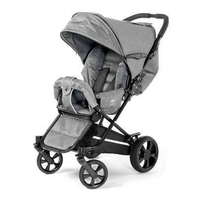 Nordic Crown stroller spin in grey melange