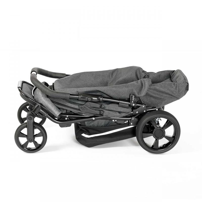 Nordic Crown spin stroller folded