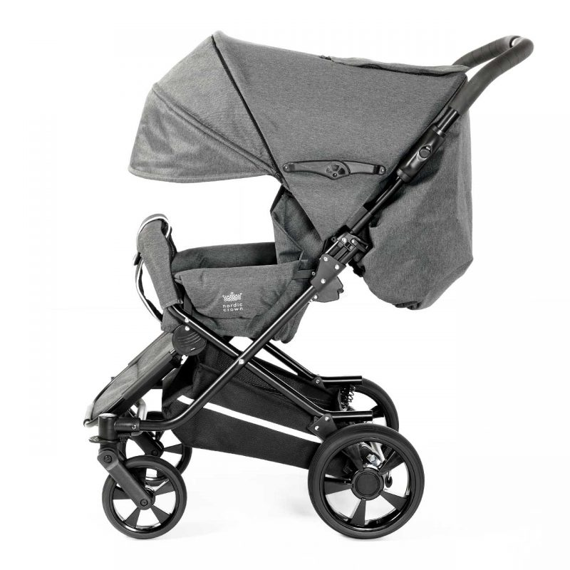 Nordic Crown spin stroller hood unfolded