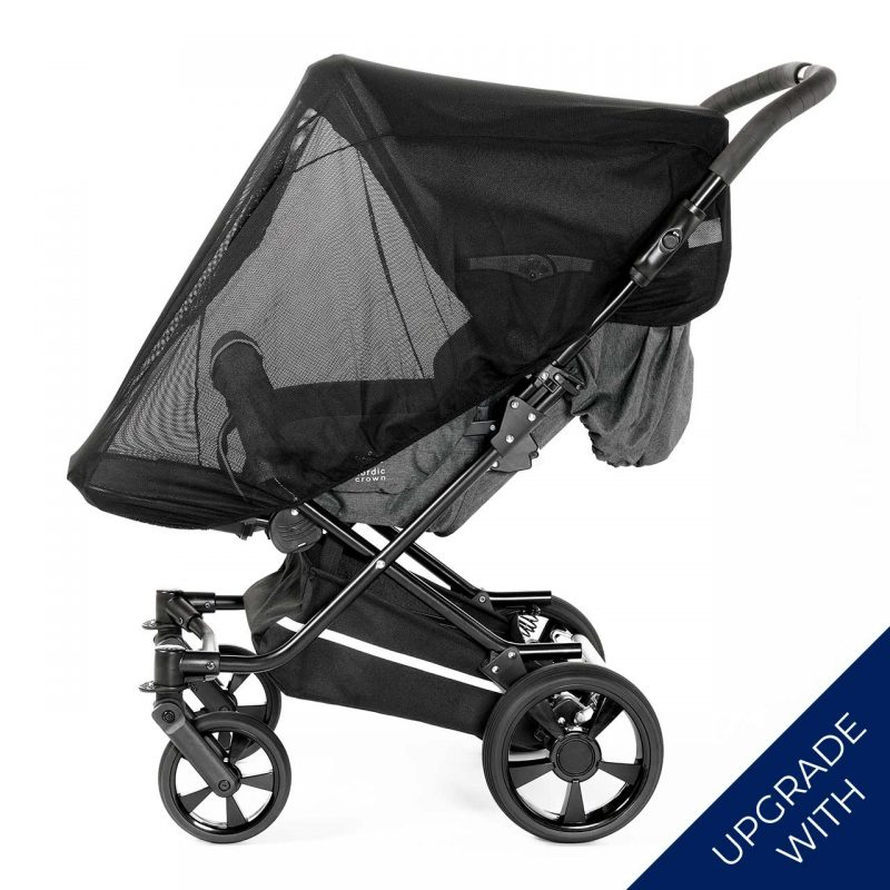 Nordic Crown spin stroller with additional mosquito net