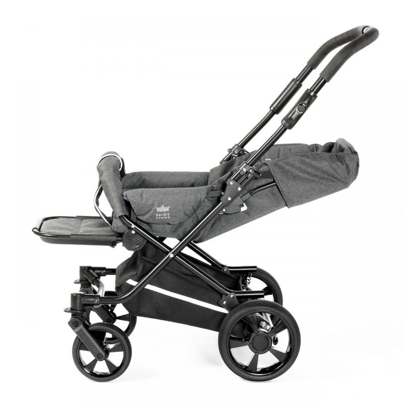 Nordic Crown spin stroller fully reclined
