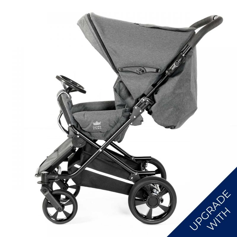 Nordic Crown spin stroller with additional steering wheel