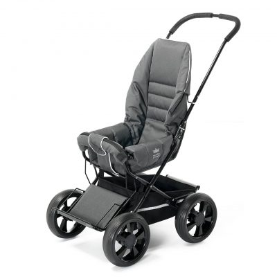 Nordic Crown stroller sporty in dark grey melange