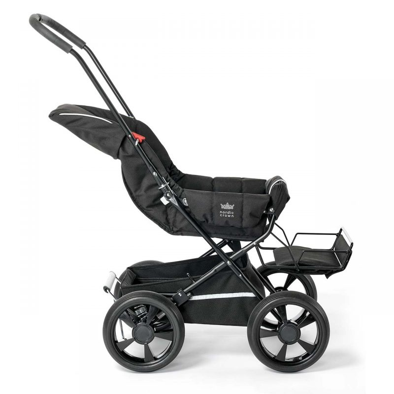 Nordic Crown sporty stroller fully reclined