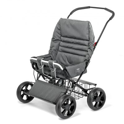 Nordic Crown stroller twinsitty in grey melange
