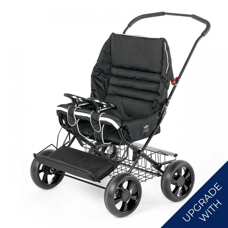 Nordic Crown twinsitty stroller with additional steering wheels
