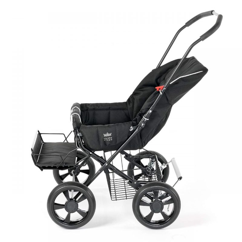 Nordic Crown stroller twinsitty reclined