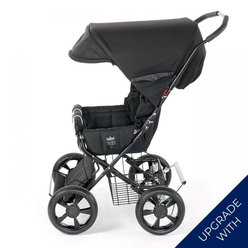 Nordic Crown stroller twinsitty with additional hood