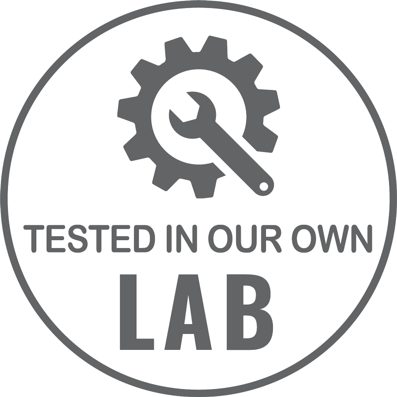 Tested in our own Lab
