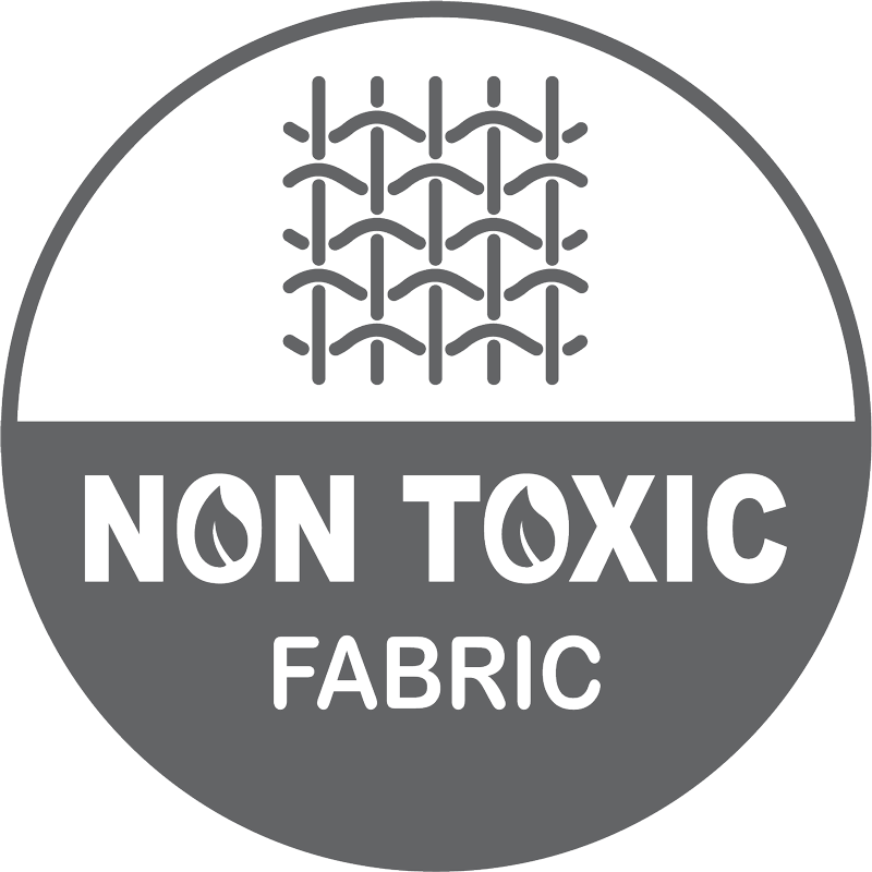 Fabric is certified by OEKO for no toxic or harmful substances