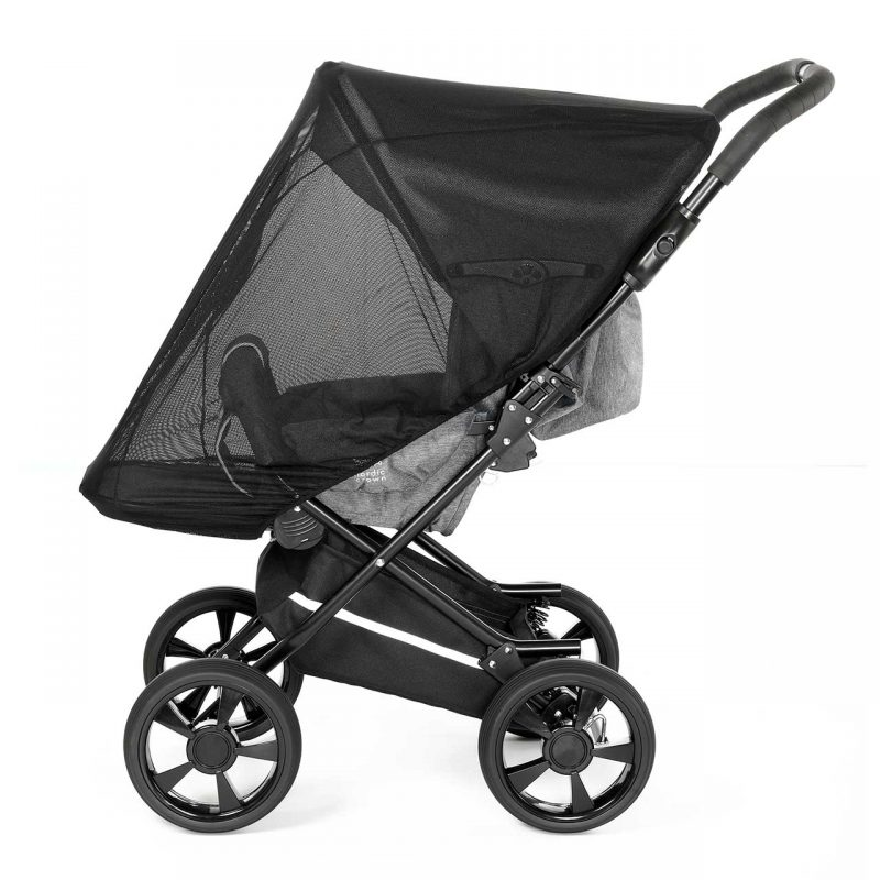 Nordic Crown mosquito net on race stroller