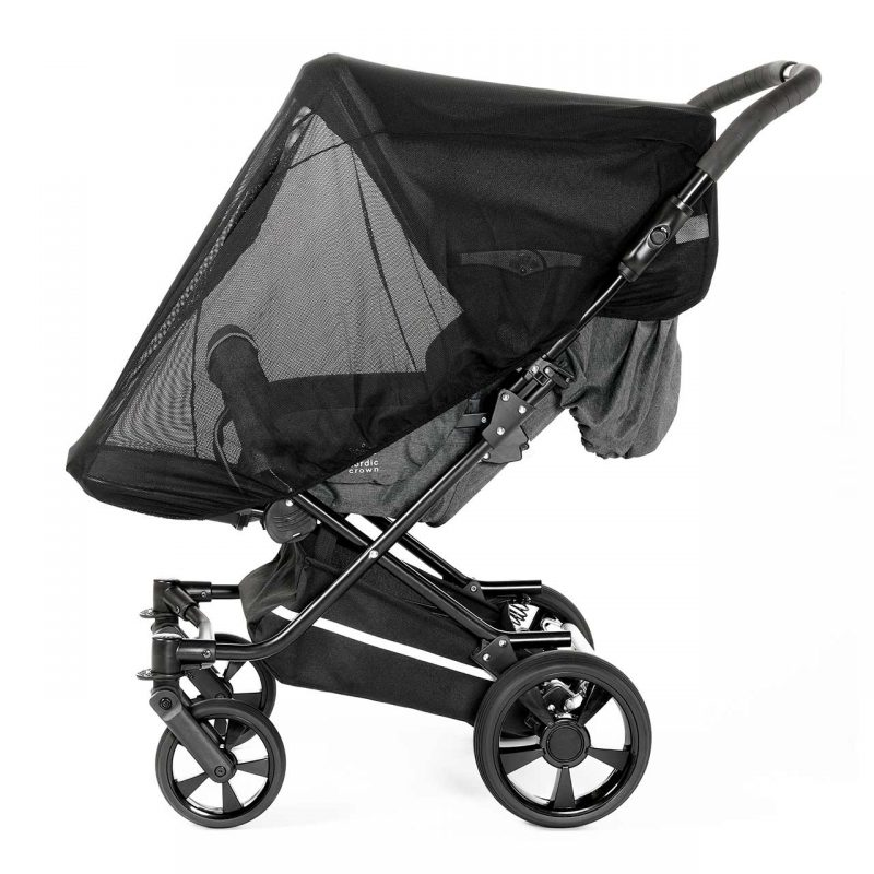 Nordic Crown mosquito net on spin stroller