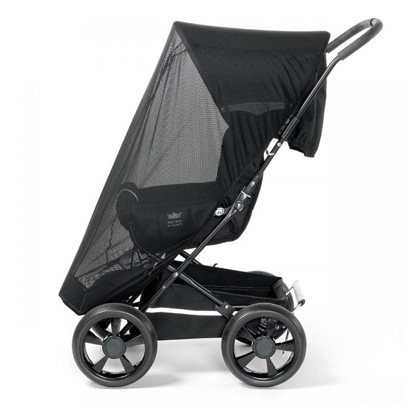 Nordic Crown mosquito net on sporty stroller