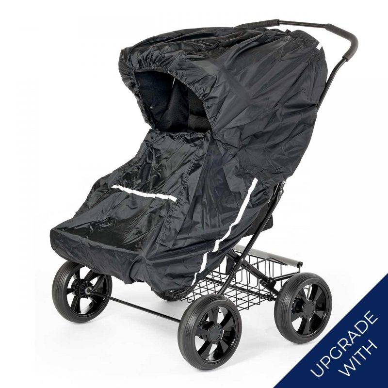 Nordic Crown twinsitty stroller with additional rain cover